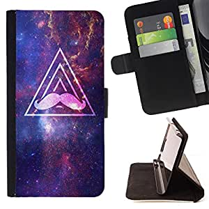 Super Marley Shop - Leather Foilo Wallet Cover Case with Magnetic Closure FOR Samsung Galaxy S3 III I9300 I9308 I737- Nebula Space Funny