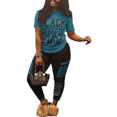 ff6c55d3260 Amazon.com  Womens 2 Piece Outfits Long Sleeve Round Neck Crop Top Color  Block Pants Set Tracksuit  Clothing