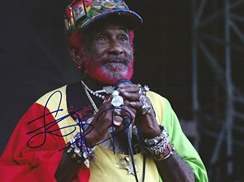 Lee Scratch Perry PRODUCER AND INVENTOR autograph, In-Person signed photo