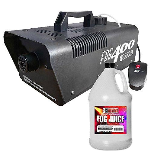 [Heavy Duty 400 Watt Fog Machine W/Remote and One Gallon Fog Juice - Impressive 2,000 Cubic ft. per] (Party Fog Machine)