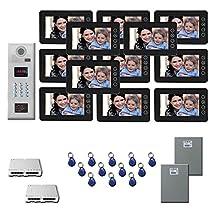 Apartment Video Intercom 12 seven inch color monitor door panel kit