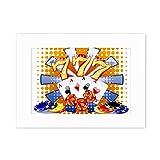 Casino Dice Chips Poker Illustration Desktop Photo Frame White Picture Art Painting 5x7 inch