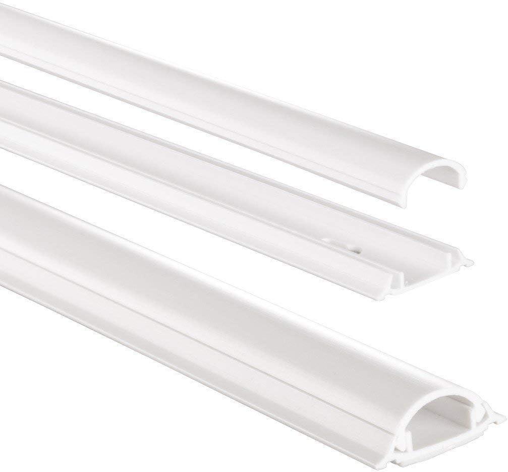 Hama Selbstklebender Kabelkanal Weiß Kunstoffleiste 1 Meter Länge Für 2 Kabel Halbrunde Pvc Kabelabdeckung Baumarkt