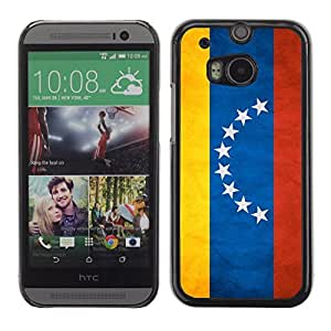 LJF phone case Shell-Star ( National Flag Series-Venezuela ) Snap On Hard Protective Case For All New HTC One (M8)