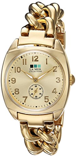 La Mer Collections Women's Quartz Metal and Gold Plated Casual Watch(Model: LMMONACO102)