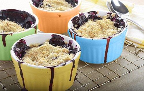 Accguan Set of 8 PCS 6 oz Round Porcelain Oven Safe Ramekin Dessert Souffle Baking Dish(3.5 INCHES) (White) by Accguan (Image #7)