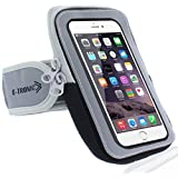 Sports Armband: Best Running Cell Phone Holder Case Arm Band Strap With Zipper Pouch/ Mobile Exercise Workout For Apple iPhone 6 6S Gold Plus iPod Touch Android Samsung Galaxy S5 S6 S7 Note 4 5 LG HTC