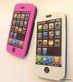 Kawaii Blanco / Negro y Rosa / Negro borradores iPhone (2 piezas)