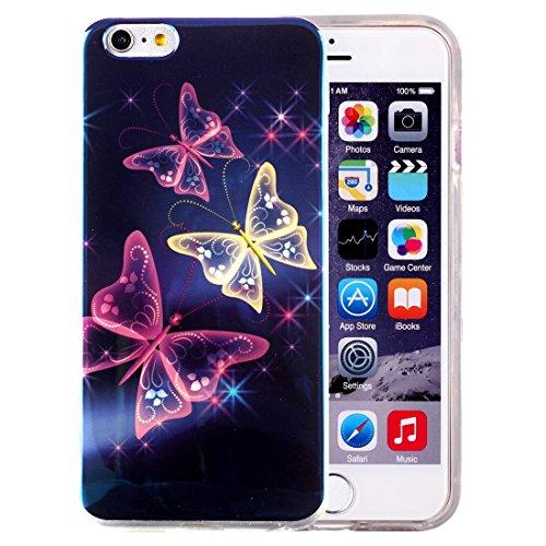 Phone Taschen & Schalen Für iPhone 6 Plus & 6s Plus IMD Bunte Blumen Muster Blu-ray Soft TPU Schutzhülle ( SKU : IP6P5000G )
