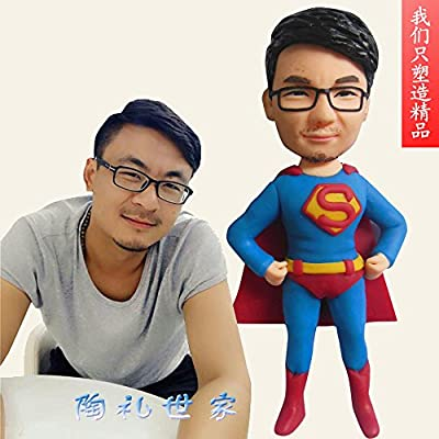 Custom character mode handmade customized from person photo making figure model Prizes Fathers Day to send parents a couple of nice polymer clay doll real fun personalized birthday gift toys 3D Craft