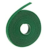 Oldhill Fastening Tapes Hook and Loop Reusable Straps Wires Cords Cable Ties - 1/2' Width, 15' x 3 Rolls (Green)