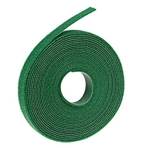 Oldhill Fastening Tapes Hook and Loop Reusable Straps Wires Cords Cable Ties - 1/2 Width, 15 x 3 Rolls (Green)