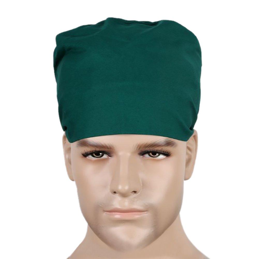 Opromo Women's and Men's Scrub Cap, 100% Cotton Adjustable Sweatband Scrub Hat 6CAP-BO0121_BLUE