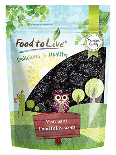 Pitted Prunes, 1 Pound - Whole Dried Plums, Unsulfured, Unsweetened, Non-Infused, Non-Oil Added, Non-Irradiated, Vegan, Raw, Bulk