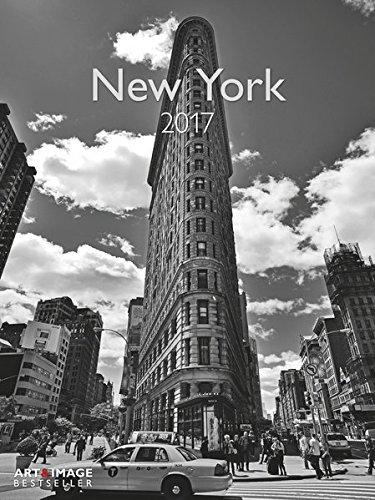 New York 2017 - Wandkalender, Städtekalender, Posterkalender, schwarz & weiß, Wandkalender  -  48 x 64 cm