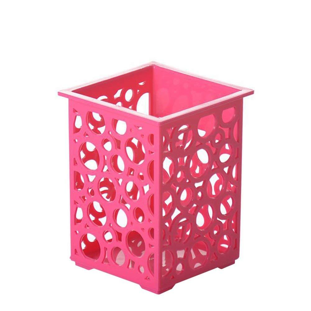 Premium Qualität Höhlte Rosa Kunststoff Stift Pot Bleistifthalter für Schulbüro Desk Supplies Organizers Ogquaton B07Q3FFQGC     | Großer Verkauf