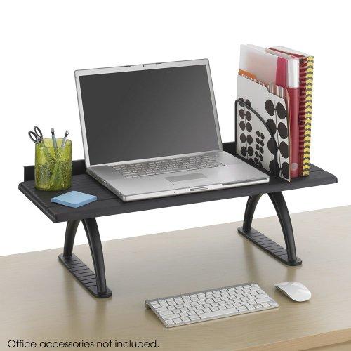 Safco 3602BL Value Mate Desk Riser 100-Pound Capacity 30 x 12 x 8 Black