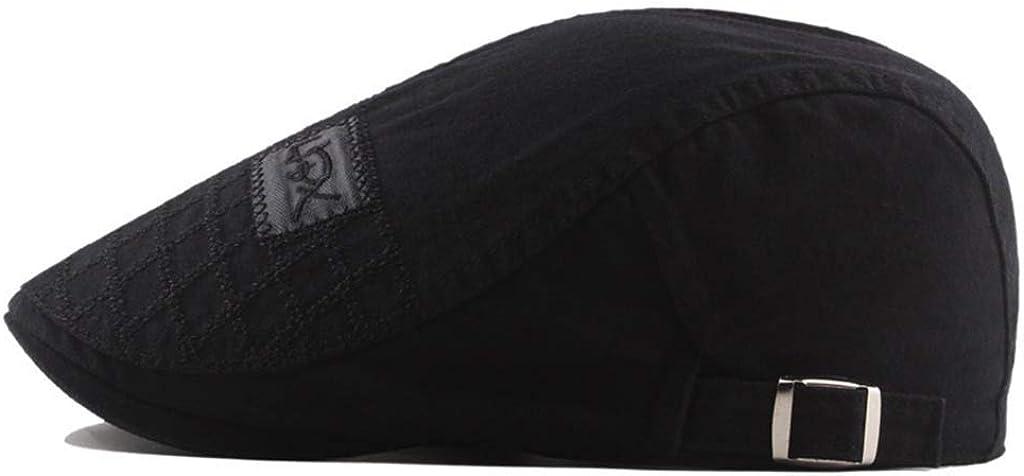 Lenfesh Chapeaux de Bouvier Bomber Chapeaux de Cow-Boy B/érets Mode Hommes Automne//Hiver B/érets brod/és Casquettes en Coton avec Tissu effil/é