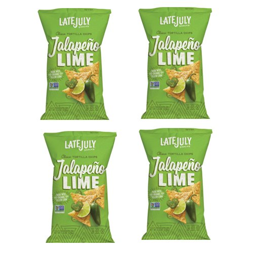 LATE JULY | Tortilla Chips | Organic and Gluten Free | Clasico, Jalepeno Lime [