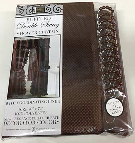 brown vinyl shower curtain liner - 7