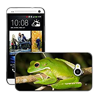 Hot Style Cell Phone PC Hard Case Cover // M00046542 tree reptiles frogs frog animals // HTC ONE M7