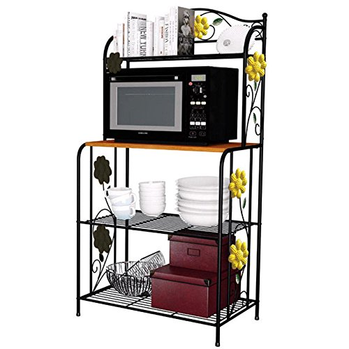 Gracelove Kitchen Baker's Rack Utility Microwave Oven Stand Storage Cart Workstation Shelf