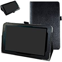"""Sprint Slate 8"""" Tablet Case,Mama Mouth PU Leather Folio 2-folding Stand Cover for 8"""" Sprint Slate 8 (AQT80) / Sprint Slate 8 Plus Android Tablet,Black"""