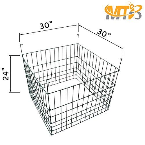 MTB Garden Wire Compost Bin 30'' L x30 W x 24'' H, Green