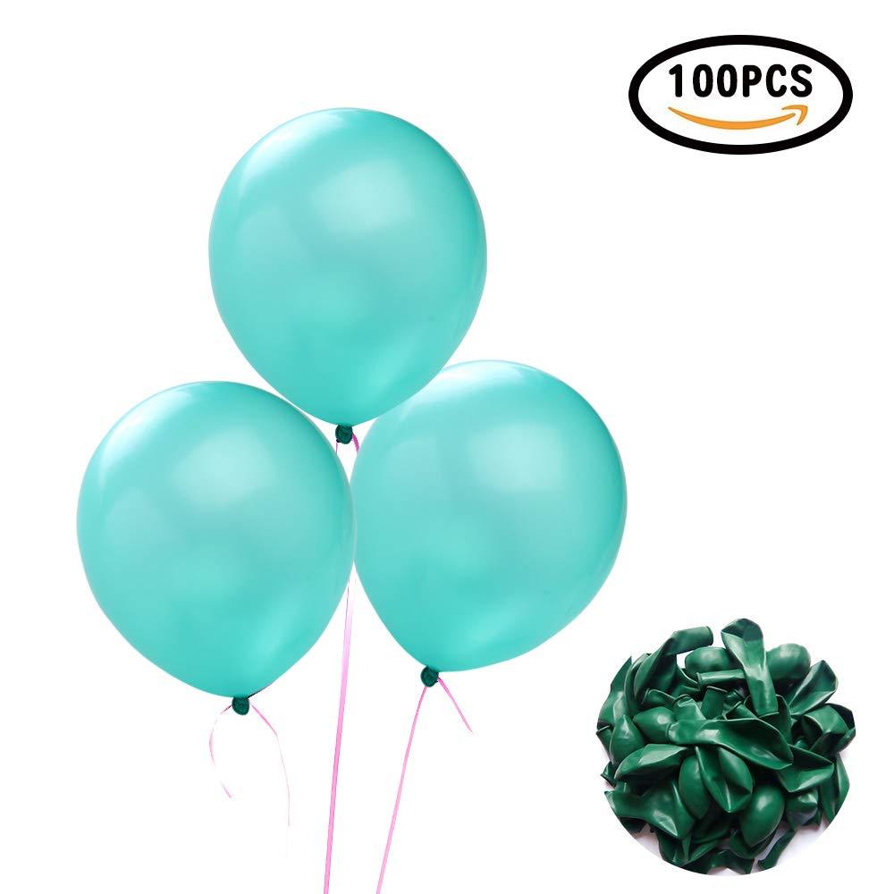 Compleanni Confezione da 100,Palloncini Verdi,/È Possibile Utilizzare Feste Feste ECC Yunfan Palloncini in Lattice Verde Brillante da 25cm