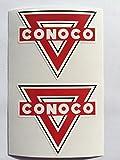 2 Conoco Gasoline Oil Die Cut Decals