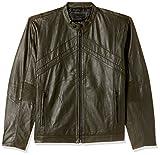 Jack & Jones Men's Leather Jacket (1983708005_Forest Night_Small)