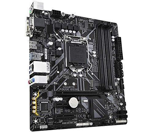 Gigabyte B365M DS3H (LGA1151/Intel/Micro ATX/USB 3.1 Gen 1 Type A/DDR4/Motherboard) & Intel Core i3-9100F Desktop Processor 4 Core Up to 4.2 GHz Without Processor Graphics LGA1151 300 Series 65W