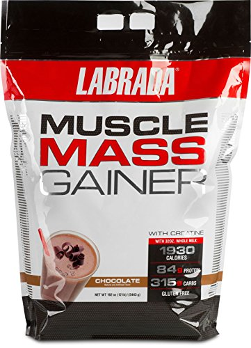 Labrada Nutrition Muscle Mass Gainer, Chocolate, 12 Pound
