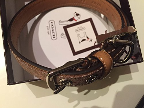 Coach Signature Dog Collar Khaki / Mahogany