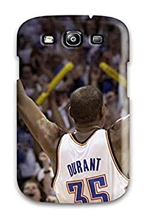 Durable Defender Case For Galaxy S3 Tpu Cover(oklahoma City Thunder Basketball Nba )