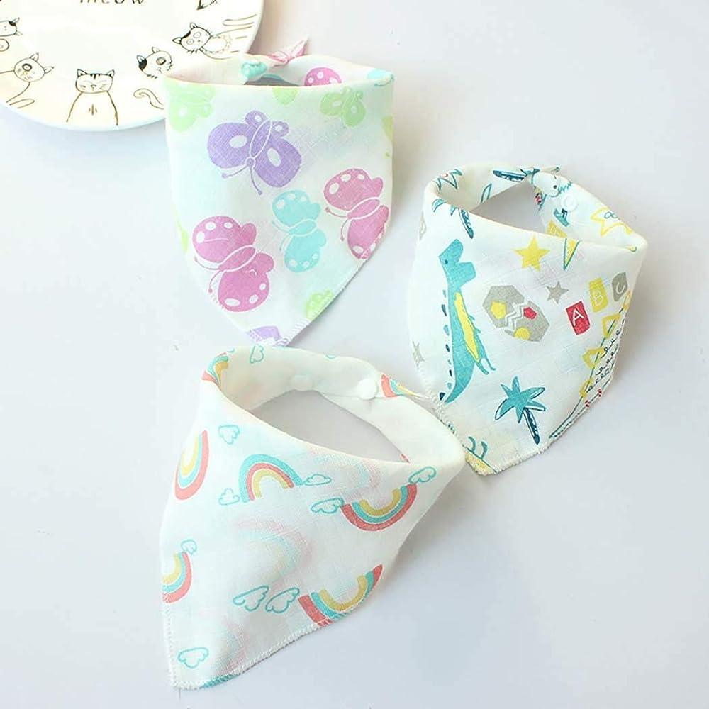 RIBITENS Unisex Double Layers Cartoon Cute Baby Bib Toddler Feeding Towel Bibs /& Burp Cloths Sets