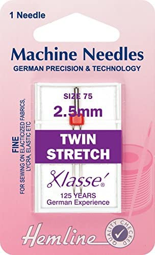Agujas para máquina de coser dobladillo elástico Intex 75/11 - 25 mm