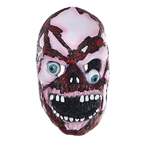 Protection Double Wire Face Mask - Skeleton Zombie Mask for Halloween Party Cosplay Mask Terror Props Mask Full Face Cover 10.27.5