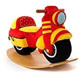 Labebe Child Rocking Horse Toy, Red Rocking Horse Plush, Motorcycle Rocker for Kid 1-3 Years, Rocking Horse Stuffed/Animal Rocker Toy/Child Rocking Toy/Wooden Rocking Horse/Rocker/Animal Ride on