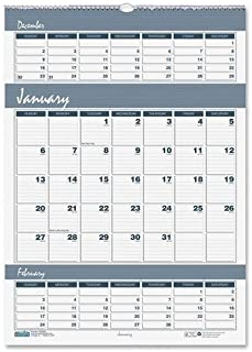 product image for HOD342 - Bar Harbor Wirebound Three-Months-per-Page Wall Calendar