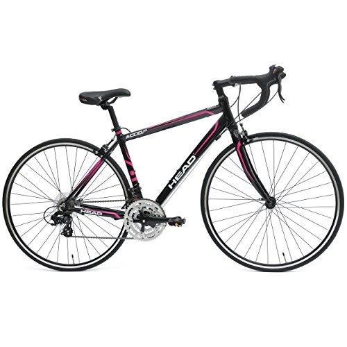700c Ladies Cycle - Head Accel NXL Road Bicycle, 700c wheels, 54 cm frame, Women's Bike, Black/Pink