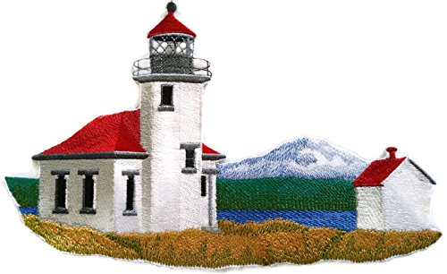 Custom and Unique Lighthouse[Point Robinson Lighthouse] Embroidered Iron on/Sew patch [9.43
