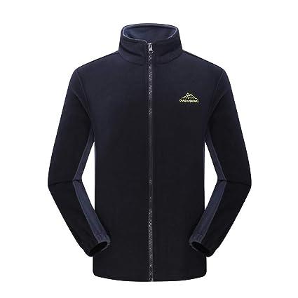 Qiusa Abrigo para hombre, más el tamaño, manga larga, abrigo largo, otoño