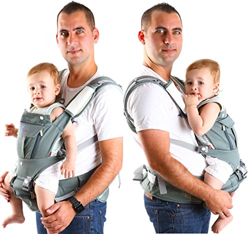 Ergonomic Baby Carrier 6 in 1 for Men and Women by Baby Dush – Soft Front Facing Baby Carrier or Baby Carrier Backpack for Newborns up to 44 lbs. – Versatile Carrying Options + Tons of Pockets