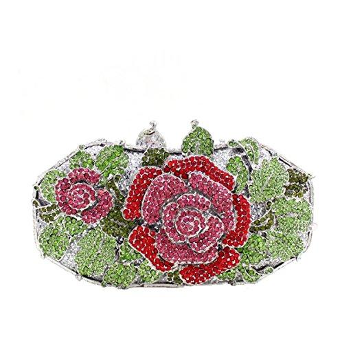 Banquet Main Fleur Pack Diamant Sac C Soirée à Luxe De Sac Femmes qSZXH7