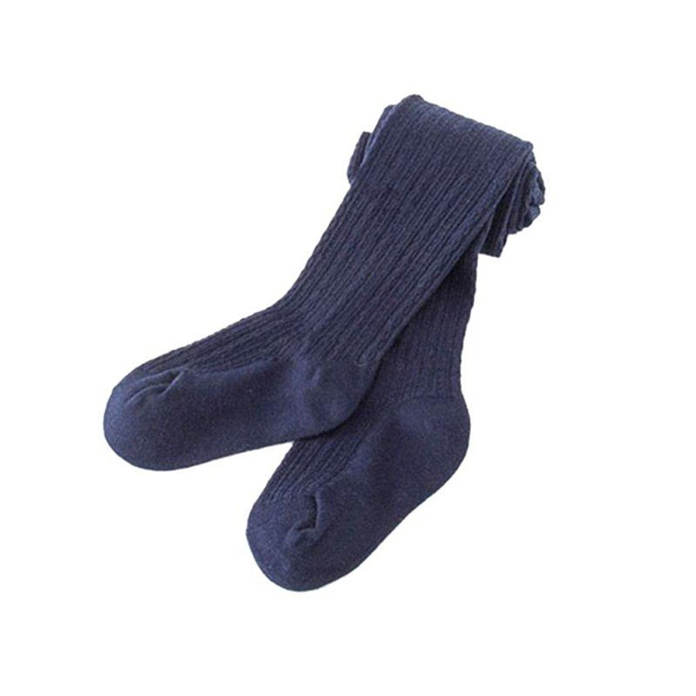 0-2 Years quanjucheer Baby Toddler Infant Kids Girls Cotton Pantyhose Socks Stockings Tights 0-8Y Breathable Stretchable Navy Blue S