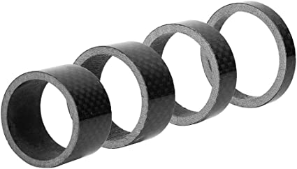 4 Pcs//set 5//10//15//20mm Carbon Fiber Washer Spacer For Bike MTB Bicycle Cycling