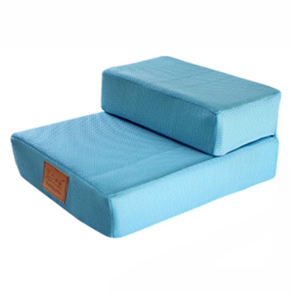 2 Step Foldable Pet Dog Cat Steps Stairs, Breathable Mesh Dog Mat Cushion Bed Steps Ramp With Detachable Cover Pet Product (color   2 Step)