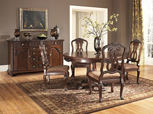 Ashley North Shore Dark Brown Dining Upholstered Side Chair (Set of 2)