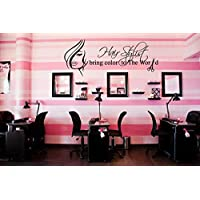 CreativeWallDecals Wall Decal Vinyl Sticker Decals Decor Hair Salon Hairdresser Beauty Hair Stylist Bring Color to The World Bedroom Fashion Cosmetic (R1220)